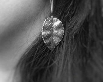 Silver Leaf Earrings Dangle Leaf Earrings Silver Dangle Earrings Drop Earrings Leaf Jewelry Nature Earrings Nature Jewelry