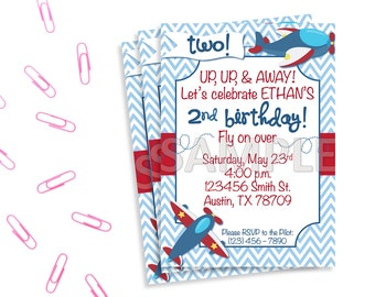 Airplane Birthday Party Invitation, Plane Birthday Invitation, Printable Airplane Invitation, Printable Plane Invitation, Airplane Party