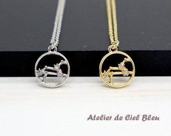 Leo Necklace, Gold / Silver Leo Necklace, Leo Constellation Necklace, Zodiac Leo Necklace, Leo Jewelry, Horoscope Jewelry
