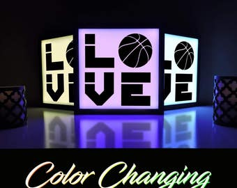 Basketball Sign, Basketball, Basketball Decor, Basketball Room, Basketball Light, Kids Nightlight, Home Decor, Light Box, Home and Living