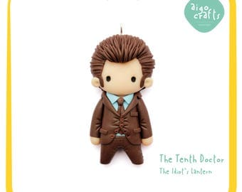 Doctor Who Limited Edition - Doctor Who Polymer Clay The Tenth Doctor David Tennant Cell Phone Charm