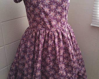 Gothic Lolita One Piece OP Purple Floral