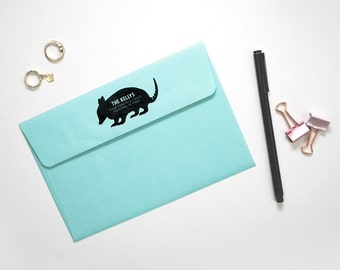 Personalized Address Stamp - Armadillo, Personalized Gift, Texas Love, Armadillo Gift, Self-Inking Custom Stamp, Housewarming Gift