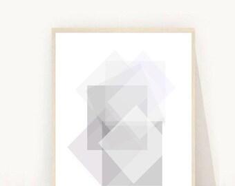 Geometric Art , Instant Download Printable Art, Grey Wall Decor, Geometric Print, Abstract Art Print,  Minimalist Art