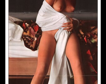 "Mature Playboy October 1963 : Playmate Centerfold Christine Williams Gatefold 3 Page Spread Photo Wall Art Decor 11"" x 23"""