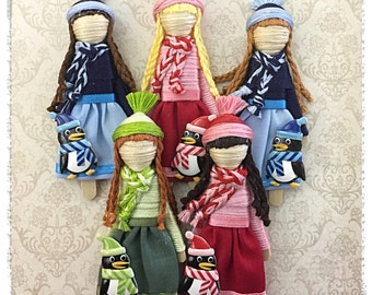 Worry Doll - WinterDoll & Her Pinguin Worry Doll