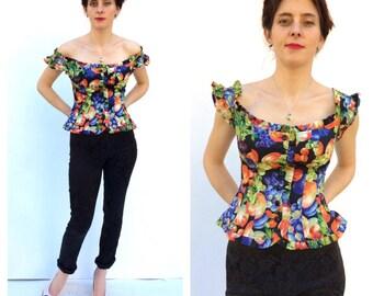 Kenzo Fruit Bustier French Designer Couture Paris