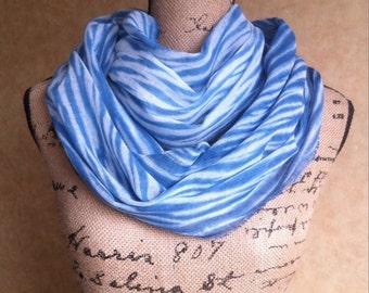 Shibori scarf/sash/wrap indigo dyed cotton gauze arashi