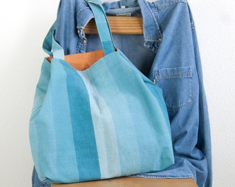Turquoise beach tote bag, carry all everyday bag, tote bag, canvas tote, weekender bag, reusable shopping bag, market bag, large grocery bag