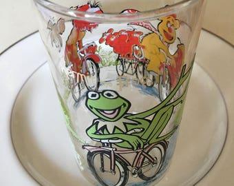 Muppets Glass, Vintage Muppets, Kermit, The Great Muppet Caper,