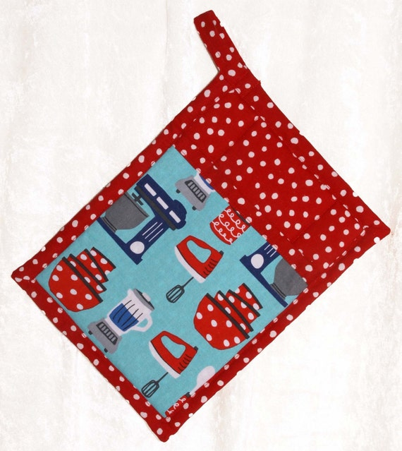 Red Pot Holders: Items Similar To Pocket Pot Holder • Red Hot Pad