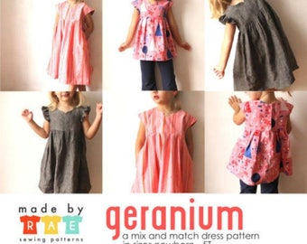 The Geranium Dress Pattern - by made by rae - UK Seller