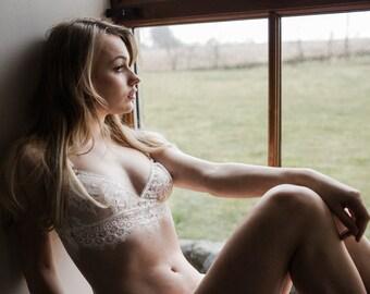 Lace longline bralette - Lorie design