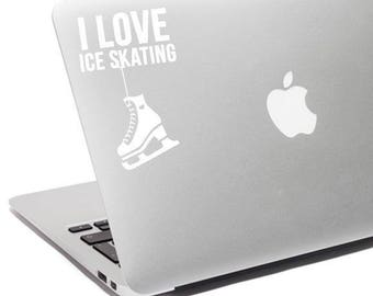 Ice skating decal, Ice skating sticker, Ice skating laptop, Ice skating, Ice skating car, I love ice skating, Ice skating gift, Ice skating