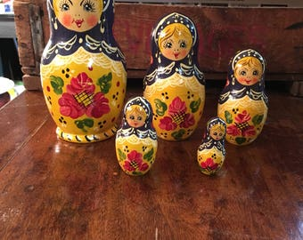 Sweet Set of Matryoshka Nesting Dolls