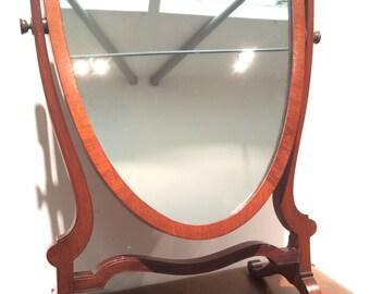 Edwardian Shield Bathroom mirror on stand