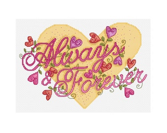 Always and Forever - Durene J Cross Stitch Pattern