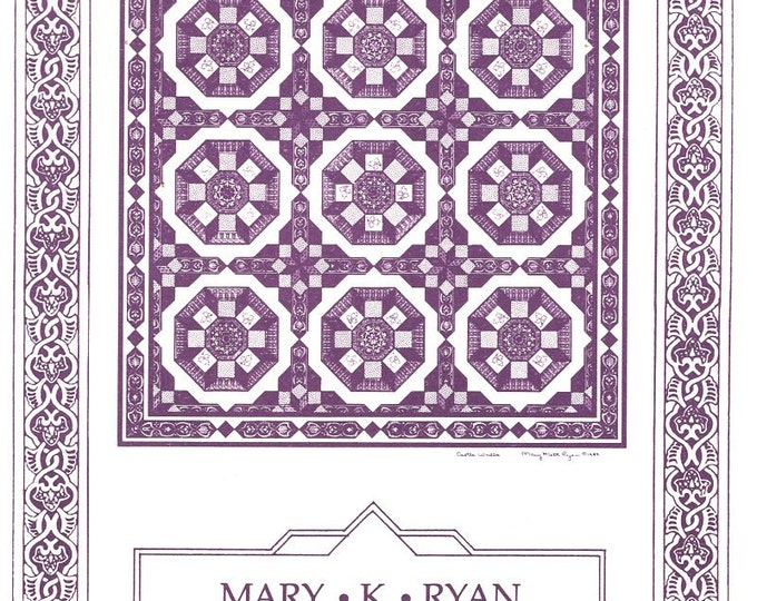 Mary K Ryan Design Castle Walls Renaissance Medieval 1999 Free Us Ship Quilt Craft Sewing Pattern