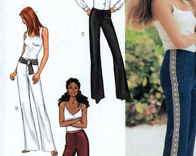 Butterick 3529 Sewing Pattern Free Us Ship Below Waist Semi Fitted Pants Fly Zipper Size 6 8 10 Bust 30 31 32 2001 Uncut
