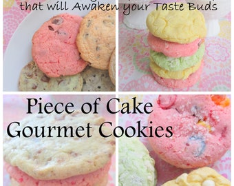 Piece of Cake Gourmet Cookies - E-book - Instant Download - 101 Cookie Recipes