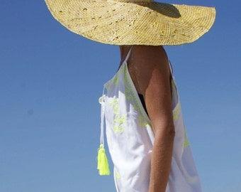 Embroidery bohemian dress/Beach dress/Beach wear/Bohemian embroidery Dress/Strap neck dress * CAMELIA STRAPS DRESS