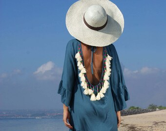 Pamela Straw hat/Summer Straw hat/Bohemian Straw hat/Trendy Straw hat * PAMELA STRAW HAT