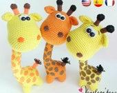 "Pattern ""Funny Giraffe"", amigurumi crochet, crochet giraffe pattern, amigurumi PDF pattern, giraffe pattern, Instant download"