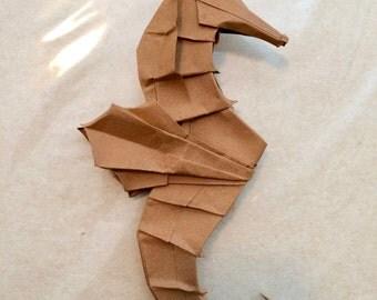 Origami sea horse