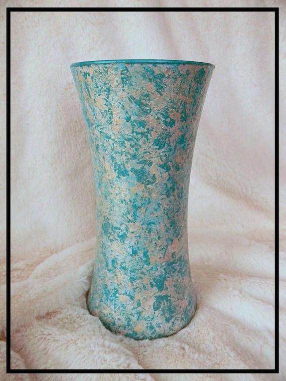 Beach wedding centerpiece hand painted vase coastal decor