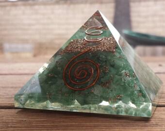 Extra Large (70-75mm) GREEN AVENTURINE Orgone Gemstone Pyramid X-Large Pyramid Orgone