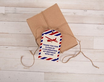 Airplane Favor Tag, Airplane Birthday, Airplane Party, Vintage Airplane, Airplane, Favor Tags, Birthday, Baby Shower, INSTANT DOWNLOAD