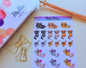 KAWAII CAT STICKERS Planner Stickers for Erin Condren, Plum Paper, Happy Planner, Kikki K