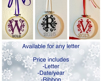 Customized Letter Ornament