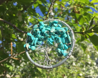 tree of life suncatcher | tree of life | suncatcher | turquoise | as above so below | free shipping world wide