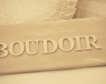 Reclaimed Wooden Hand Painted Boudoir Sign Free UK Delivery