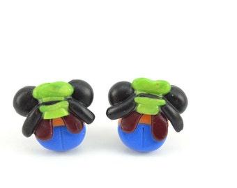 Goofy Mickey Inspired Adorable Stud earrings. Polymer Clay earrings- VVsGrotto