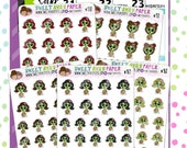 Tired Planner Stickers   Zombie Planner Stickers   Walker Sunday Planner Stickers   Character Stickers   467   468   469   470   471