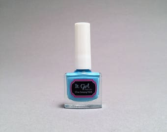 Sky - 5-Free Stamping Polish - Bright Light Blue Creme Finish