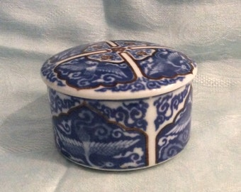 Seymour Mann Trinket Box, Vintage Ceramic Trinket Box. Jewelry Box