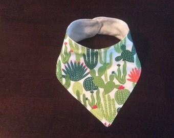 Baby's cactus bandana drool,  dribble bib