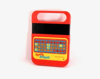 Vintage Speak and Spell electronic toy - Texas Instruments, 1980, 1980s toys, 80s, educational toys, spelling games