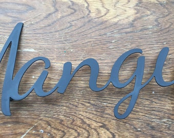 Mangia Sign Steel