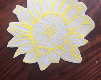 Sunflower decal|Flower decal|Car decal|Laptop decal|Black flower decal|Tumbler decal|Wildflower Decal|Sunflower Sticker|Wildflower Sticker