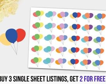Birthday Balloons, Balloon Stickers,Balloon Planner Stickers, Celebrations Stickers, Birthday Balloon Sticker,Good for any Planner