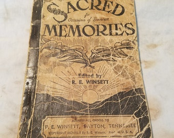 Sacred Memories hymn book (1942)