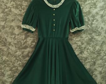 60's/70's Green Dress