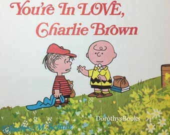 You're In Love Charlie Brown 1st Ed. 1968 Charles M Schulz - Vintage Peanuts - First Edition Books - Vintage Childrens Books - Classic Books