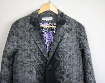 STOLEN GIRLFRIENDS Club Felted Black and Grey Nightmare Overcoat Size XS