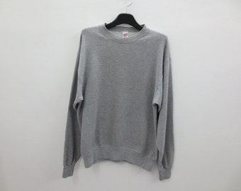 Soffe Sweatshirt Vintage Soffe Sweats Plain Solid Crewneck Made in USA Fortrel Poly Cotton Sweat Men Size M