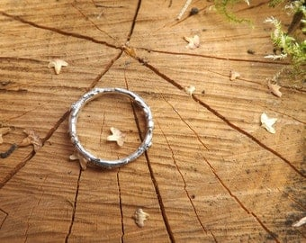 Silver Twig Ring: Branch Ring, Woodland Ring, Silver Branch Ring, Twig Ring, Nature Jewellery, Twig Jewellery, Rustic Ring, Rustic Ring